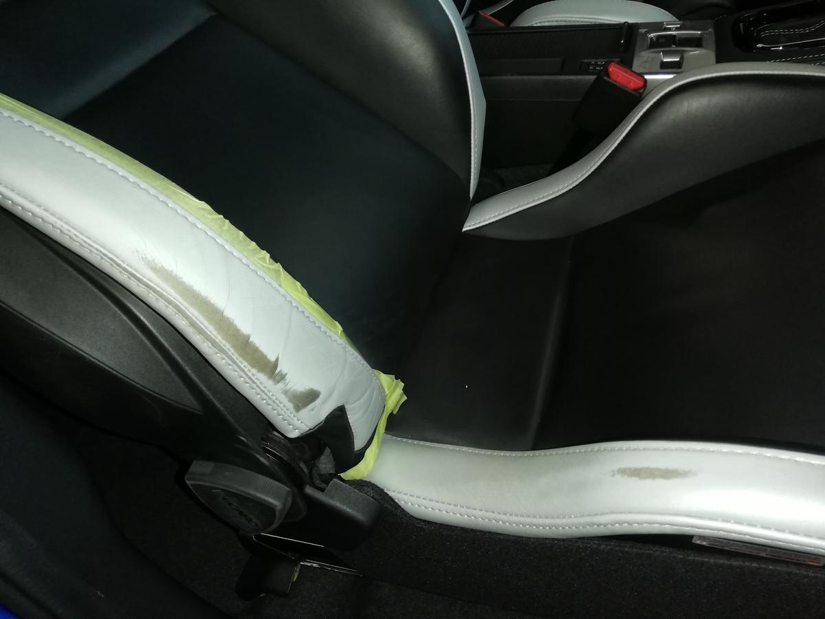 スバル/WRX S4 本革レザーシート 擦れ・擦り傷補修札幌