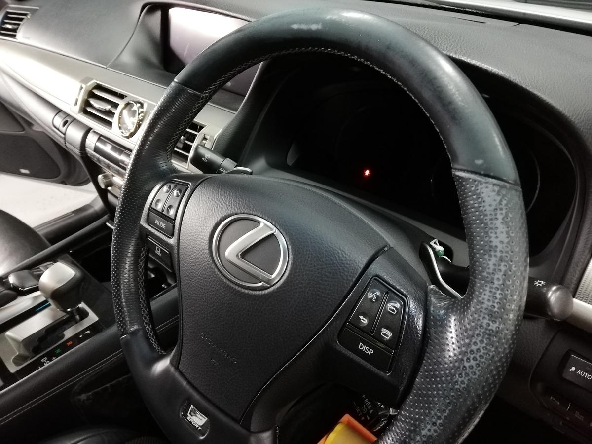 レクサス/LS600h 革ハンドル/ステアリングの傷・劣化・擦れ補修 札幌