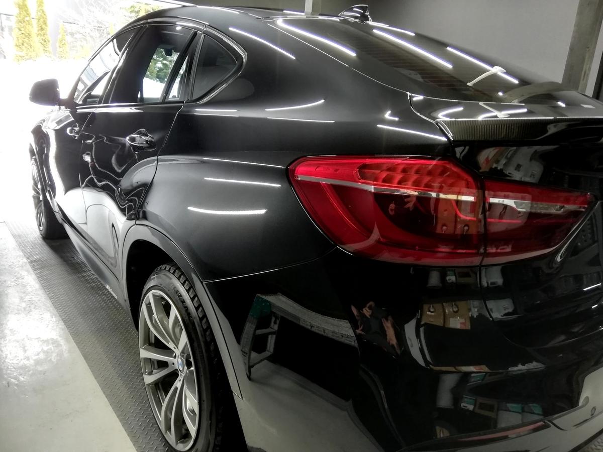BMW/X6 ボディ研磨+樹脂硬化型コーティング【Ω /OMEGA】車内クリーニング+レザー保湿トリートメント札幌4