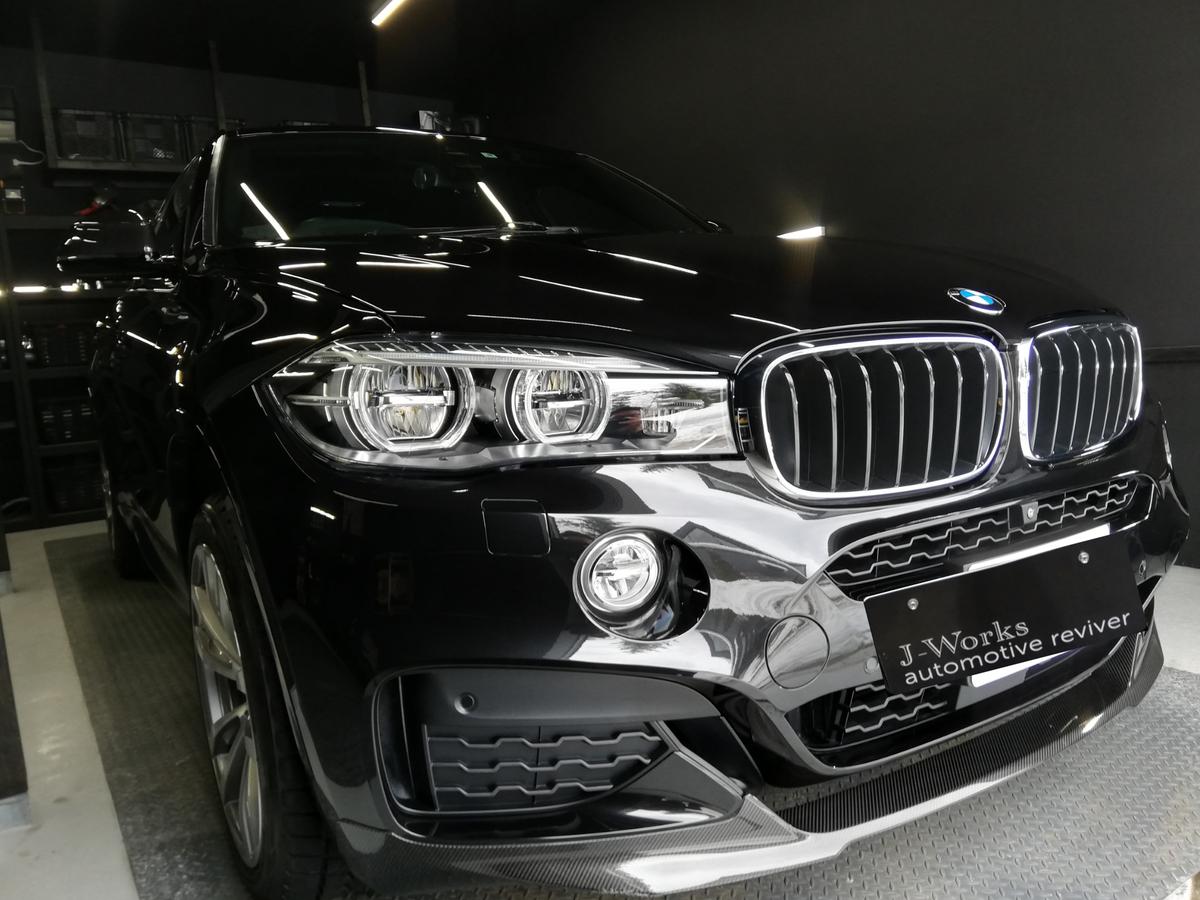 BMW/X6 ボディ研磨+樹脂硬化型コーティング【Ω /OMEGA】車内クリーニング+レザー保湿トリートメント札幌2