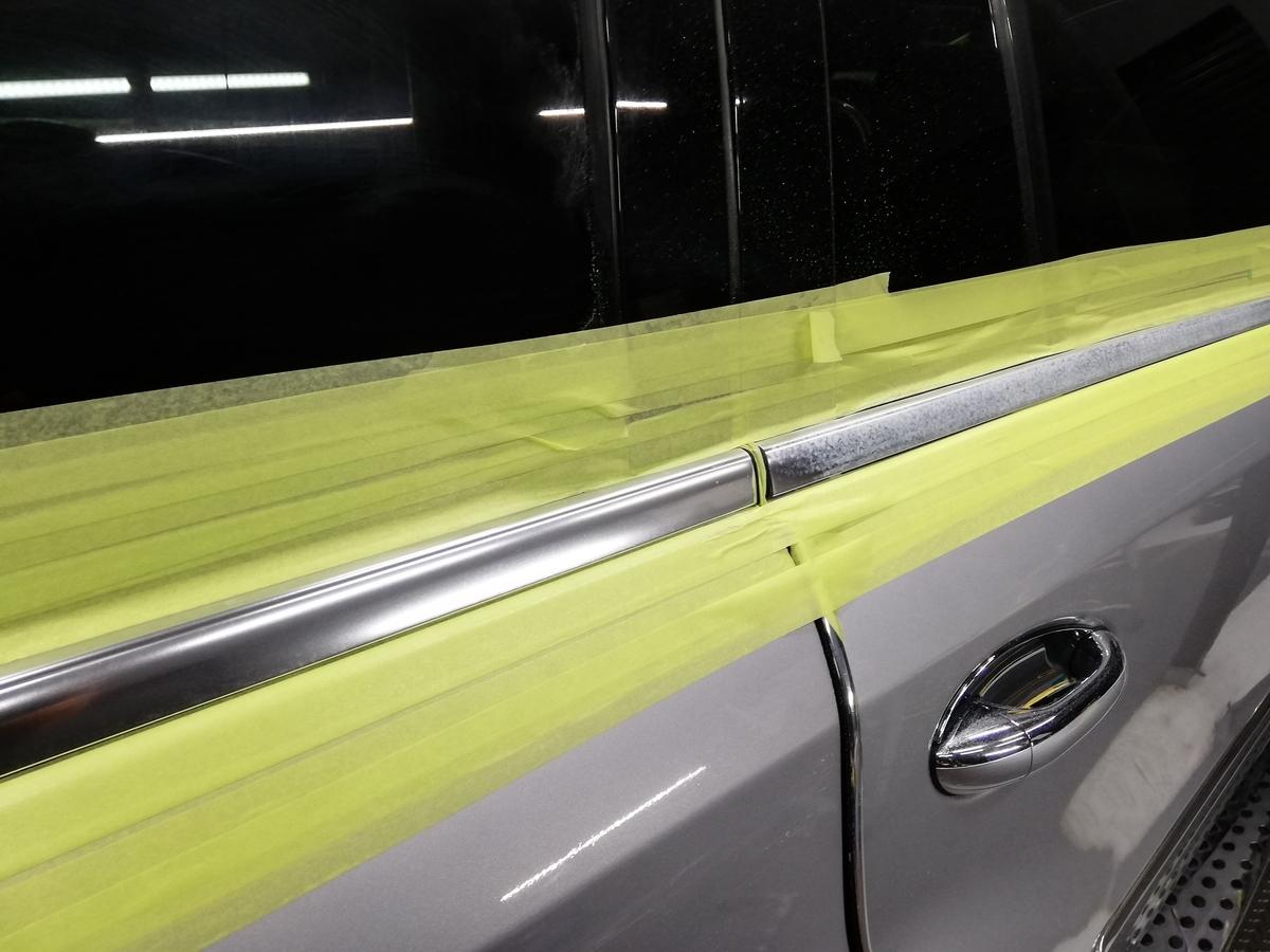 メルセデス・ベンツ/GL550 欧州車アルミメッキモール腐食磨き+コーティング 札幌3