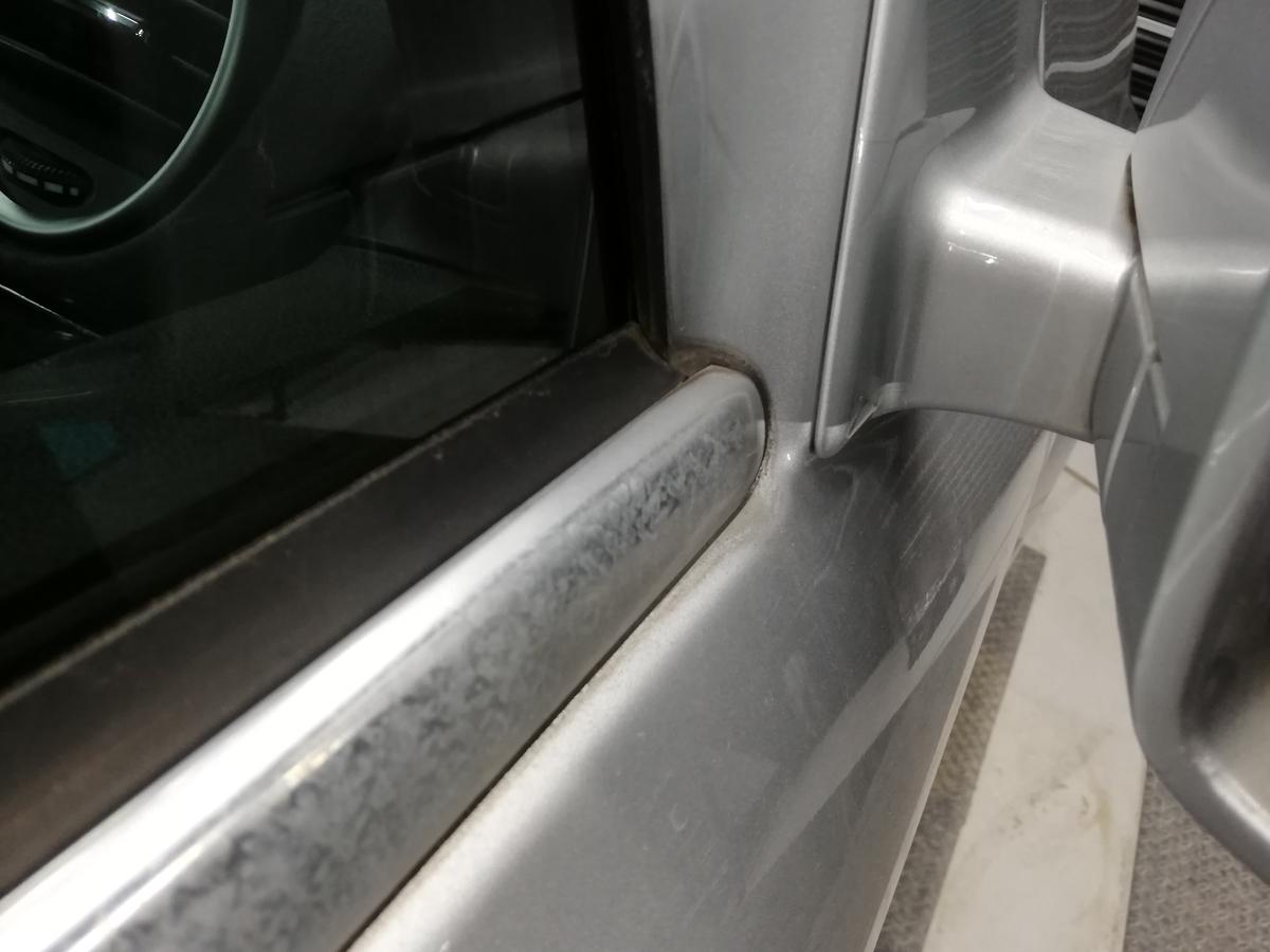 メルセデス・ベンツ/GL550 欧州車アルミメッキモール腐食磨き+コーティング 札幌5