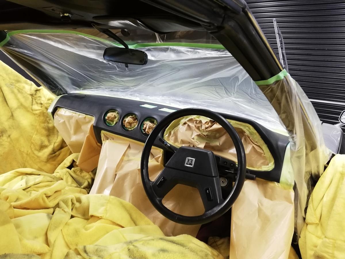 日産/S130型フェアレディ280Z-T Tバールーフ マンハッタンカラー ダッシュボード ひび割れ補修 札幌5