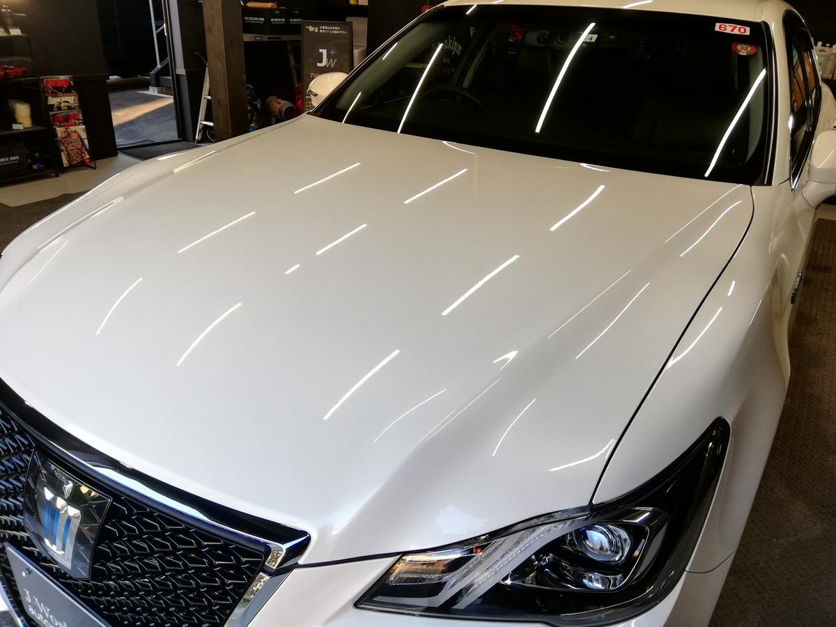 トヨタ/クラウンアスリート ボディ研磨+ フッ素樹脂結合系コーティング 札幌 タクシー2