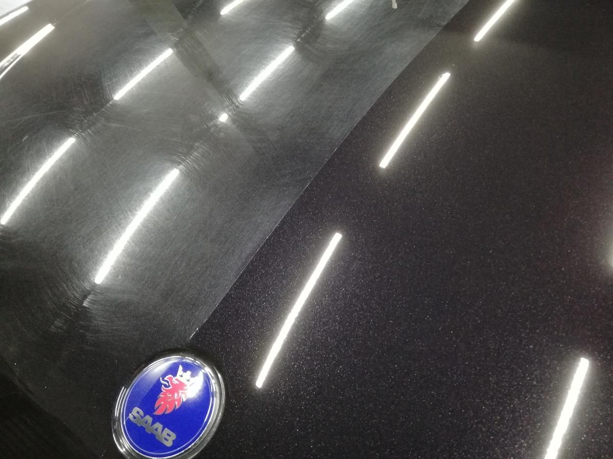 SAAB /93スポーツセダン ボディ研磨+ フッ素樹脂結合系コーティング+車内クリーニング 札幌2