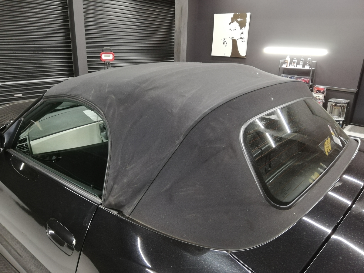BMW/Z4ロードスター 幌撥水防汚コーティング各種オープンカー(コンバーチブル、カブリオレ、ロードスター、スパイダー)ソフトトップ仕様に対応 札幌2