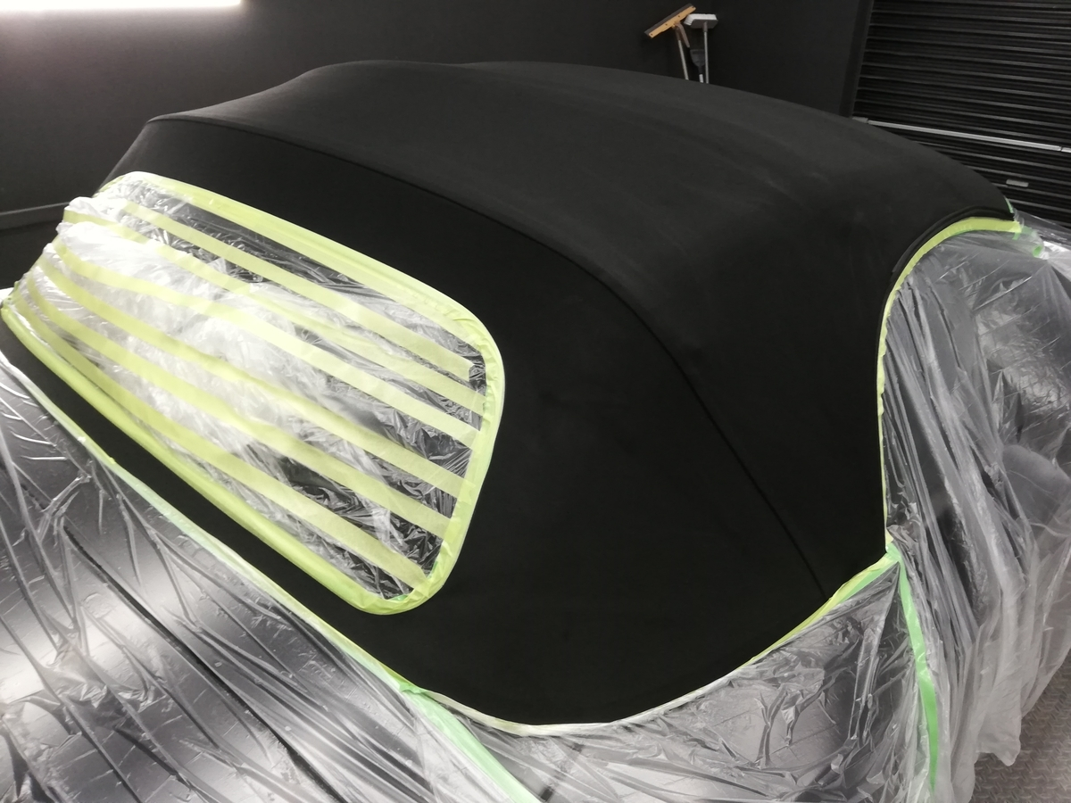 BMW/Z4ロードスター 幌撥水防汚コーティング各種オープンカー(コンバーチブル、カブリオレ、ロードスター、スパイダー)ソフトトップ仕様に対応 札幌1