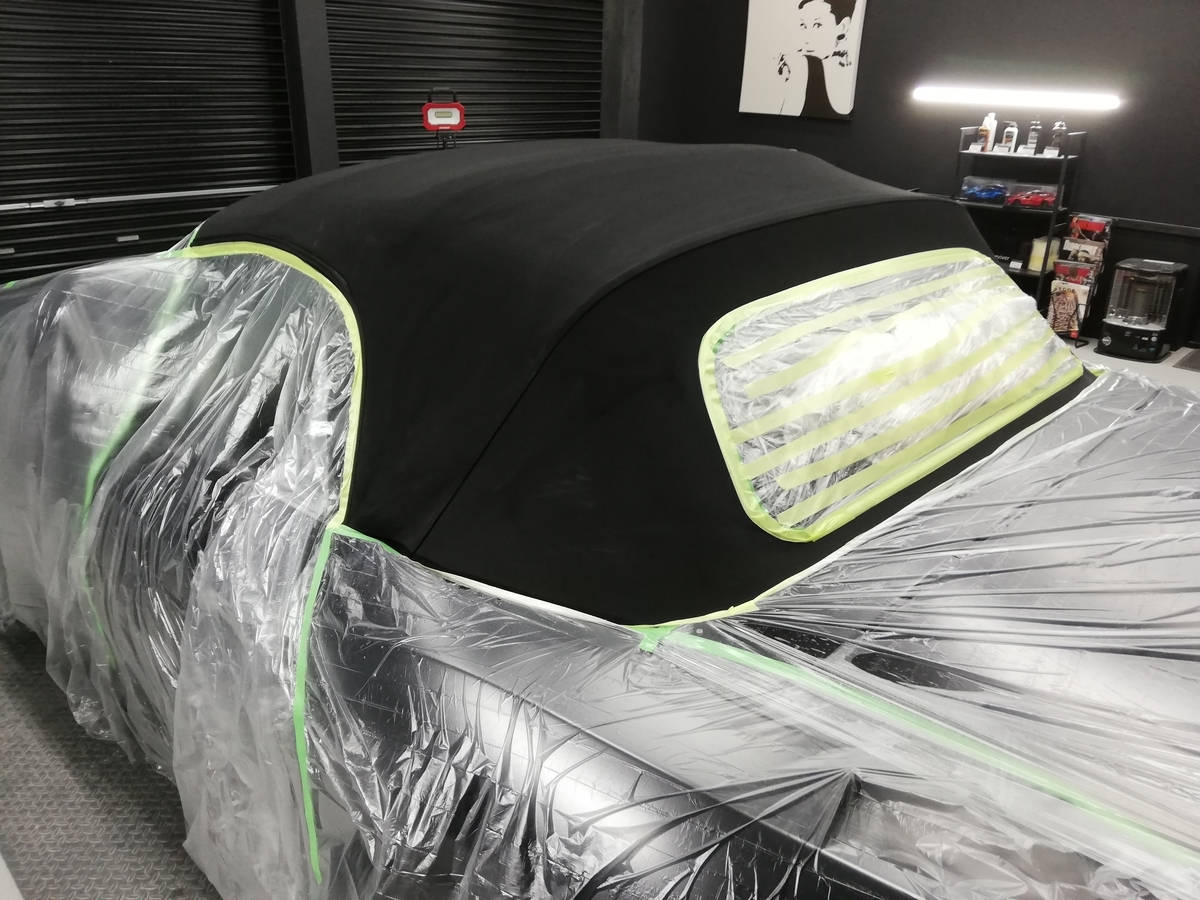 BMW/Z4ロードスター 幌撥水防汚コーティング各種オープンカー(コンバーチブル、カブリオレ、ロードスター、スパイダー)ソフトトップ仕様に対応 札幌3