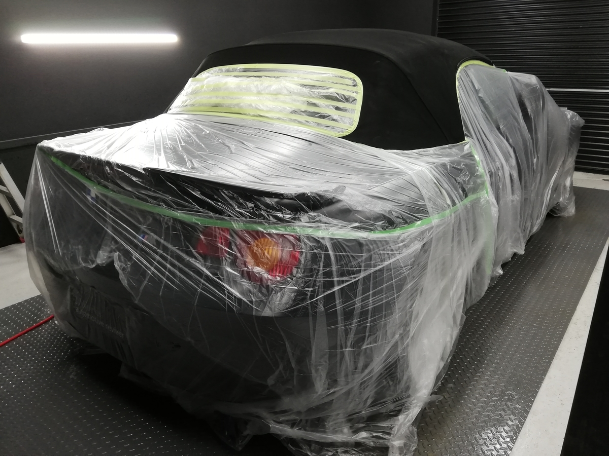 BMW/Z4ロードスター 幌撥水防汚コーティング各種オープンカー(コンバーチブル、カブリオレ、ロードスター、スパイダー)ソフトトップ仕様に対応 札幌4