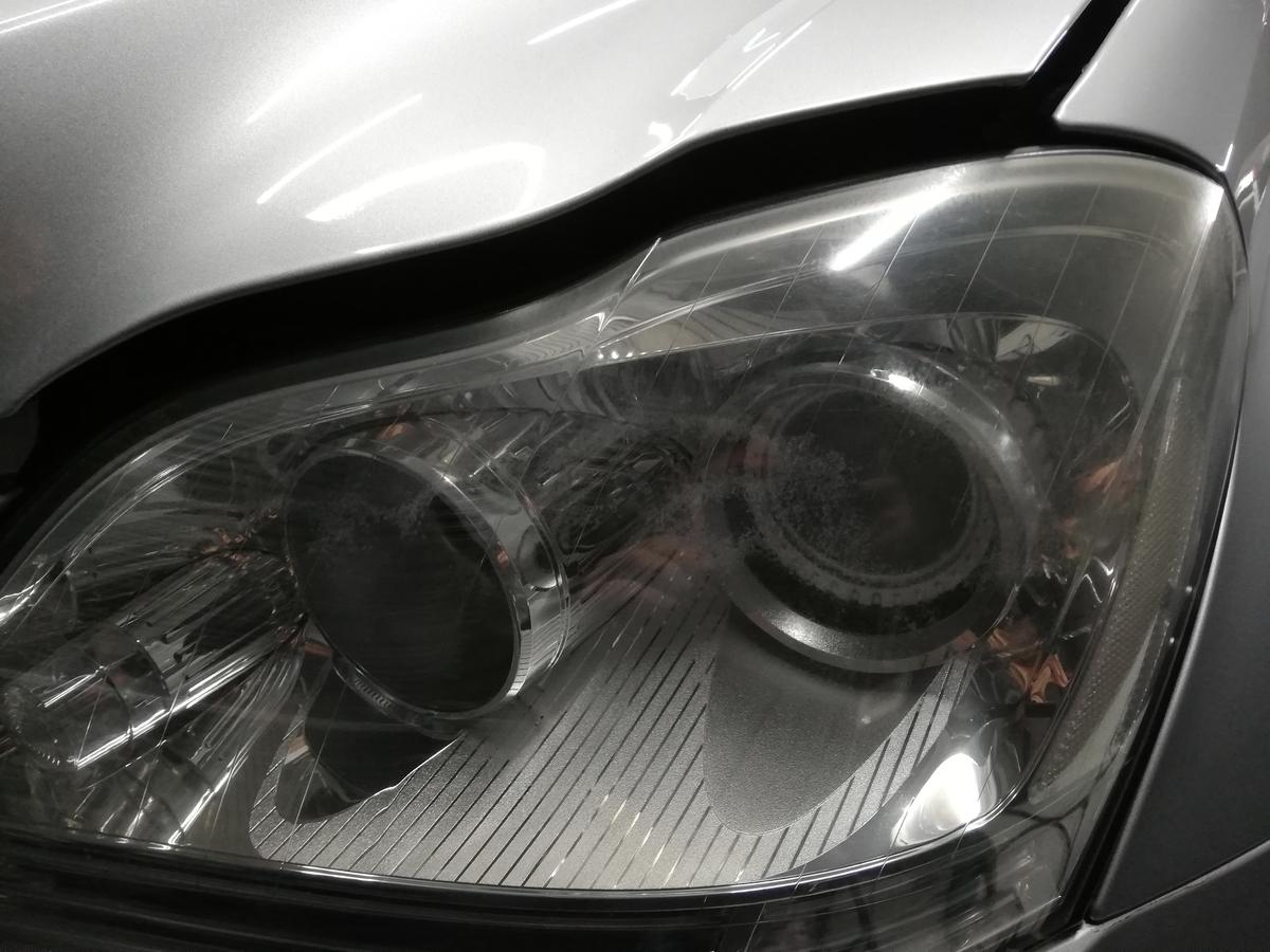 メルセデス・ベンツ/GL550 X164 ボディ研磨+樹脂硬化型コーティング【Ω/OMEGA】+ヘッドライト・ホイール・未塗装樹脂パーツコーティング札幌黄ばみ