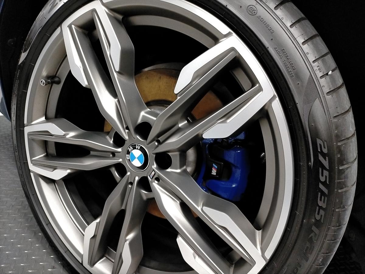 BMW/X3 M40d ボディ研磨+樹脂硬化型コーティング【Ω /OMEGA】  +ヘッドライトコーティング・ウインドウウロコ取りコーティング+ホイールコーティング+本革レザー保湿トリートメント札幌7