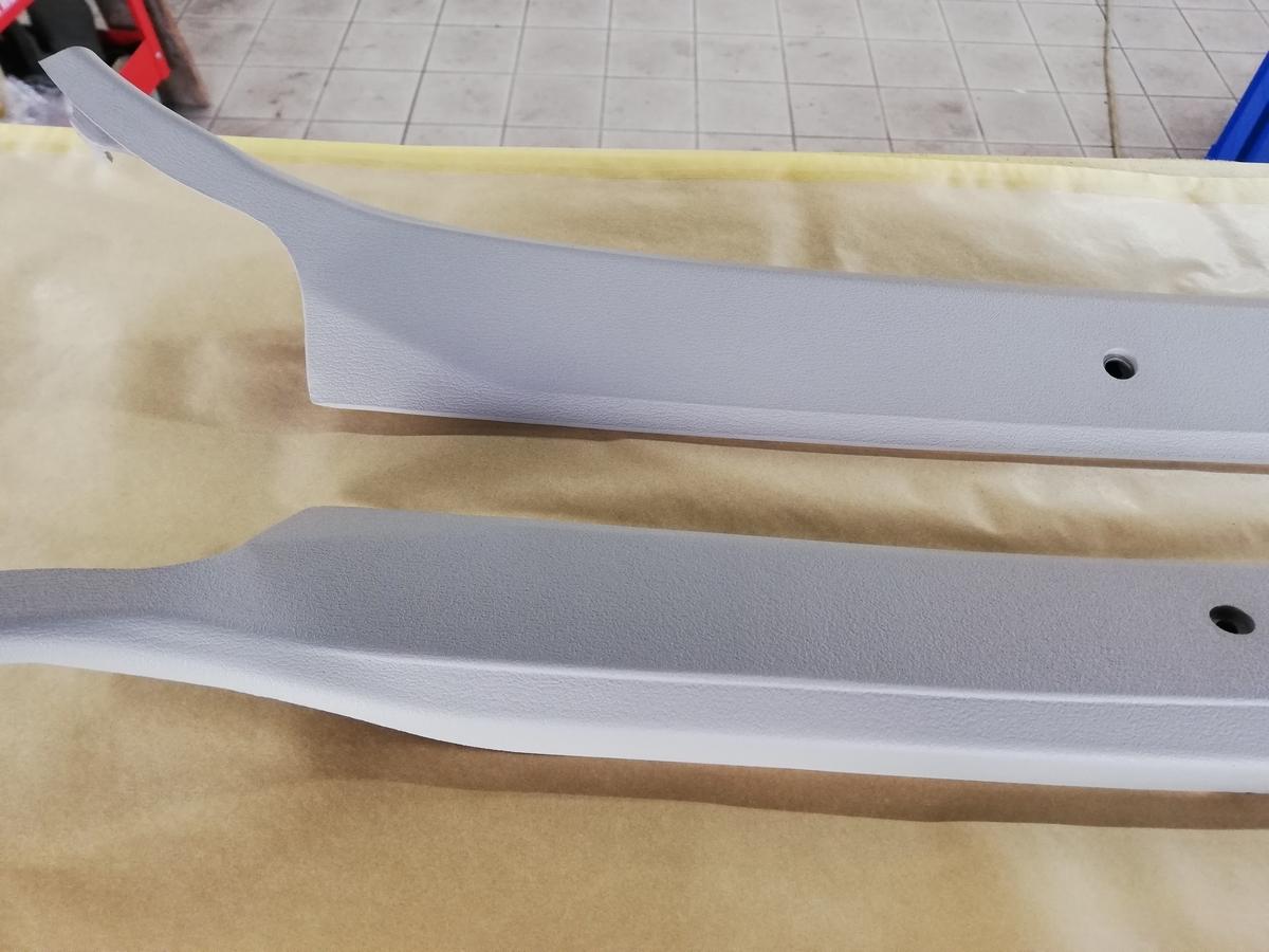 トヨタ/カローラレビン TE37型 内装Aピラー割れ補修札幌北広島1