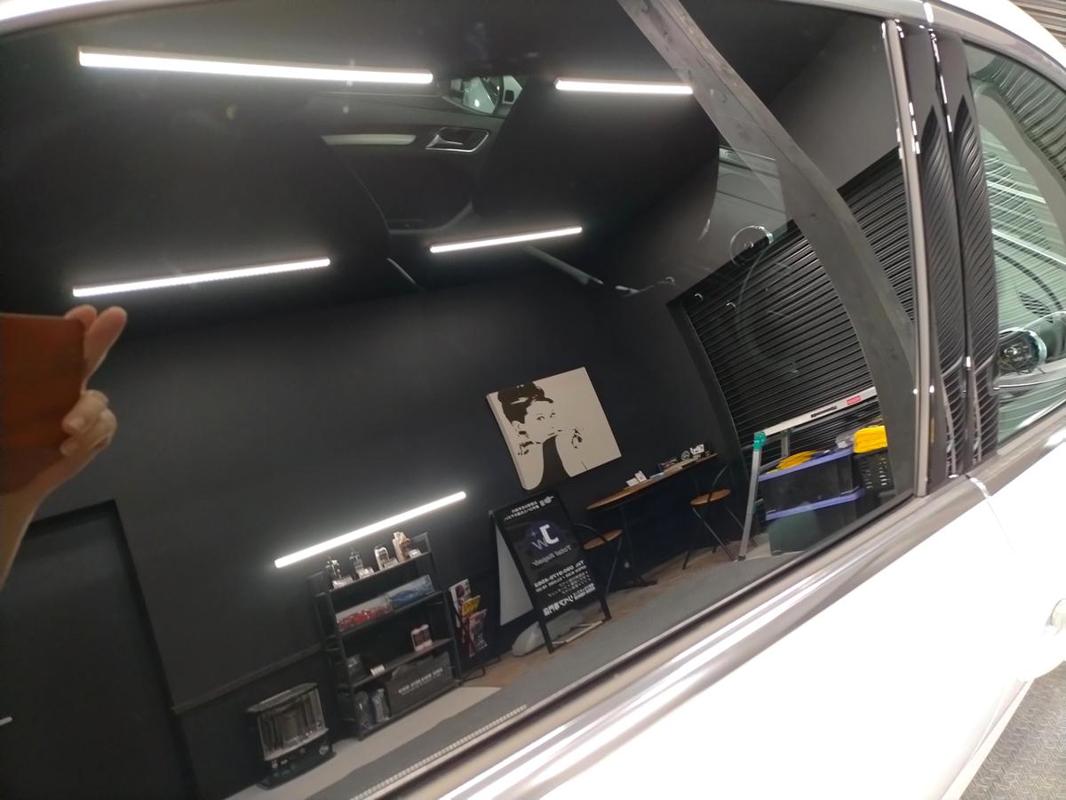 アウディ/A3 ボディ磨き+樹脂硬化型コーティング【Ω/OMEGA】+ウインドウウロコ取り撥水加工札幌北広島6