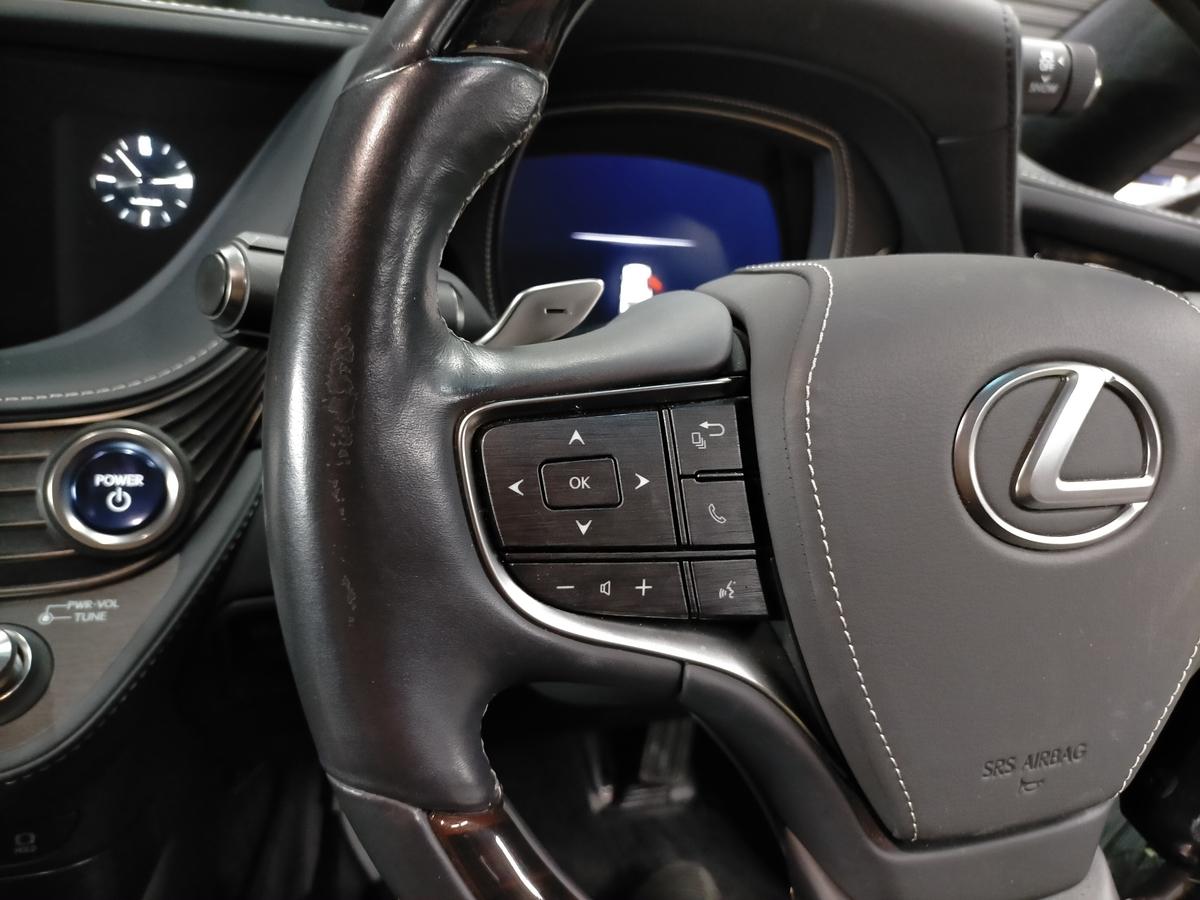 レクサス/LS500h 革ハンドル/ステアリング劣化・擦れ・表皮剥がれ補修札幌北広島