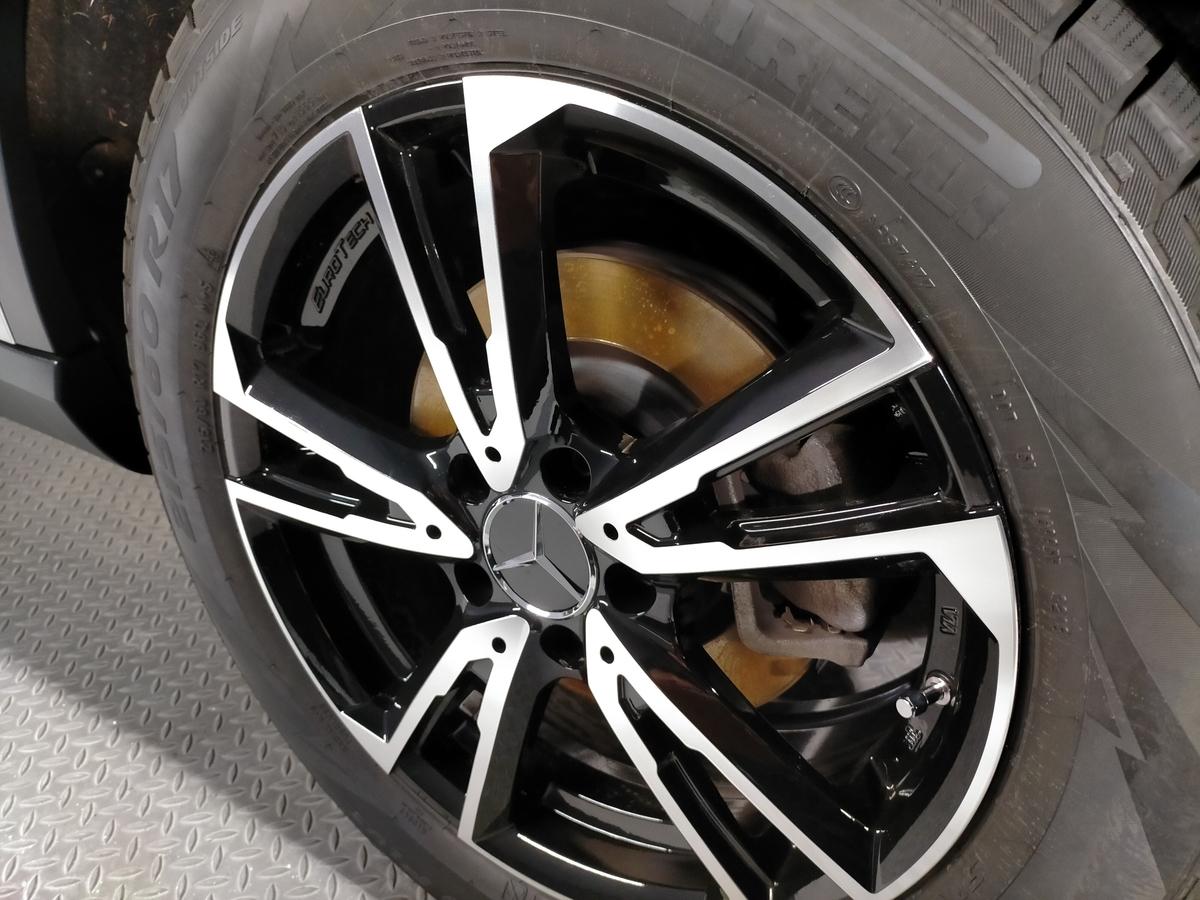 GL250 4マティックオフロード X156 ボディ磨き+樹脂硬化型コーティング【Ω/OMEGA】+アルミモール・ヘッドライト・ホイール・未塗装樹脂パーツコーティング札幌北広島エニカ6