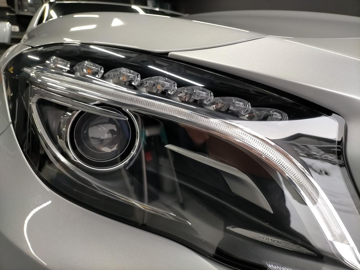 GL250 4マティックオフロード X156 ボディ磨き+樹脂硬化型コーティング【Ω/OMEGA】+アルミモール・ヘッドライト・ホイール・未塗装樹脂パーツコーティング札幌北広島エニカ5