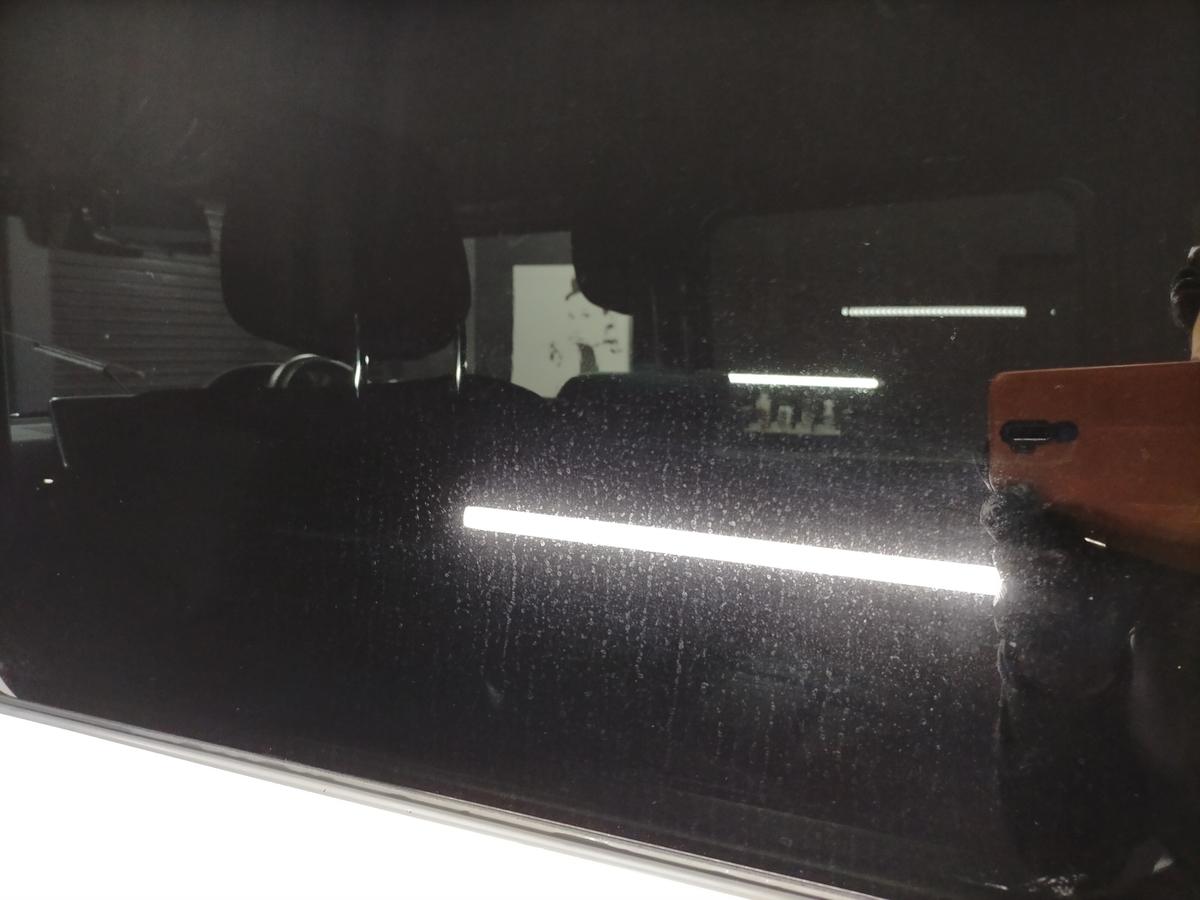 G350ブルーテック エディションゼブラボディ磨き+樹脂硬化型コーティング【Ω/OMEGA】+ウインドウガラスウロコ取り撥水加工+未塗装樹脂パーツコーティング+車内クリーニング+designoレザー保湿ケア札幌北広島6