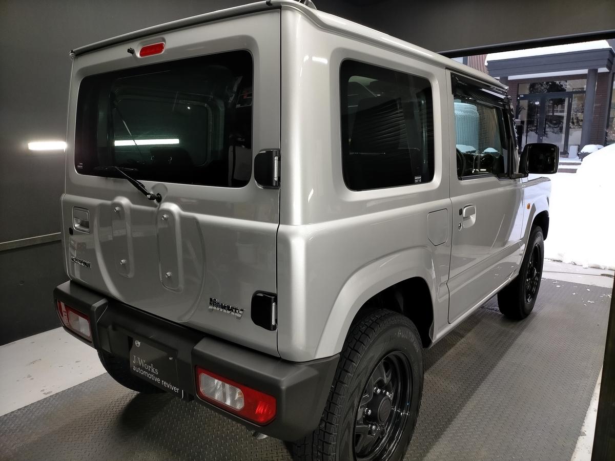 スズキ/ジムニーJB64 樹脂硬化型コーティング【Ω/OMEGA】新車施工札幌北広島5