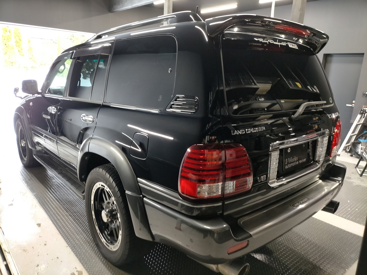 トヨタ/ ランドクルーザー シグナス ボディ磨き+フッ素樹脂結合系簡易コーティング【F/FLAM】札幌北広島7