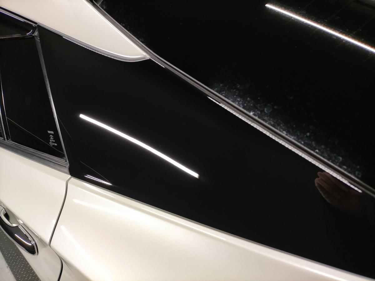 トヨタ/ プリウス50 ボディ磨き+フッ素樹脂結合系簡易コーティング【F/FLAM】札幌清田6