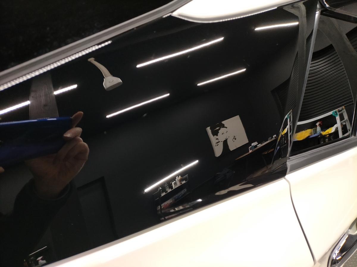 トヨタ/ プリウス50 ボディ磨き+フッ素樹脂結合系簡易コーティング【F/FLAM】札幌清田8