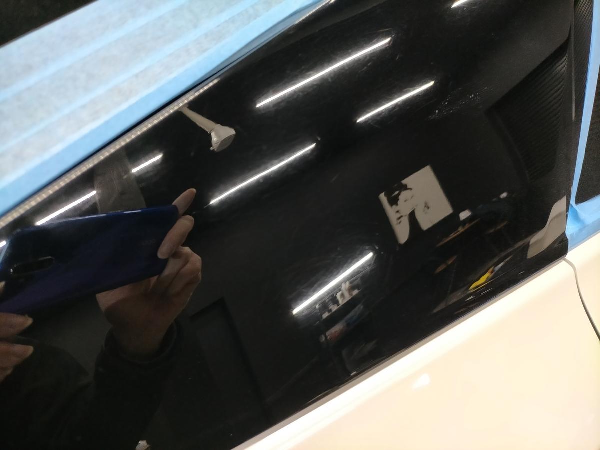 トヨタ/ プリウス50 ボディ磨き+フッ素樹脂結合系簡易コーティング【F/FLAM】札幌清田7