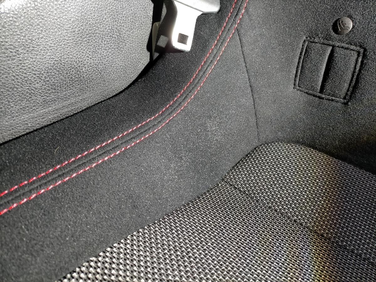 トヨタ/86GT  布地ファブリックシート タバコ焦げ穴跡補修札幌清田1