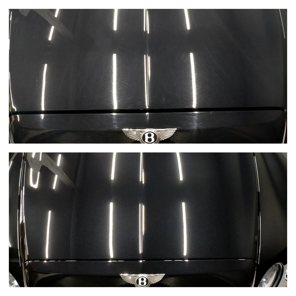 ベントレー/フライングスパーW12 ボディ磨き+樹脂硬化型コーティング【Ω /OMEGA】札幌清田3