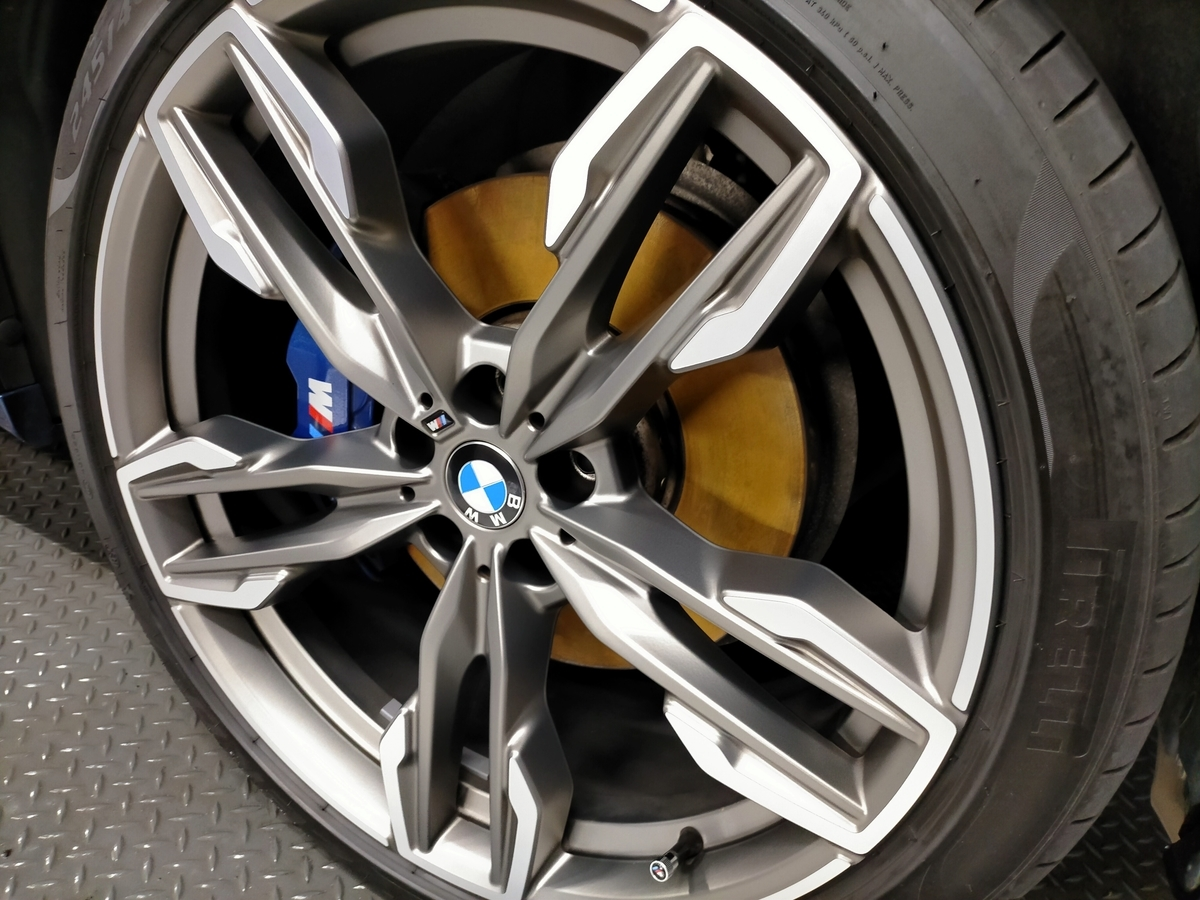 BMW/X3 M40d樹脂硬化型コーティング【Ω /OMEGA】1年メンテナンス+ホイールコーティング+革シート保湿クリーニング札幌清田5