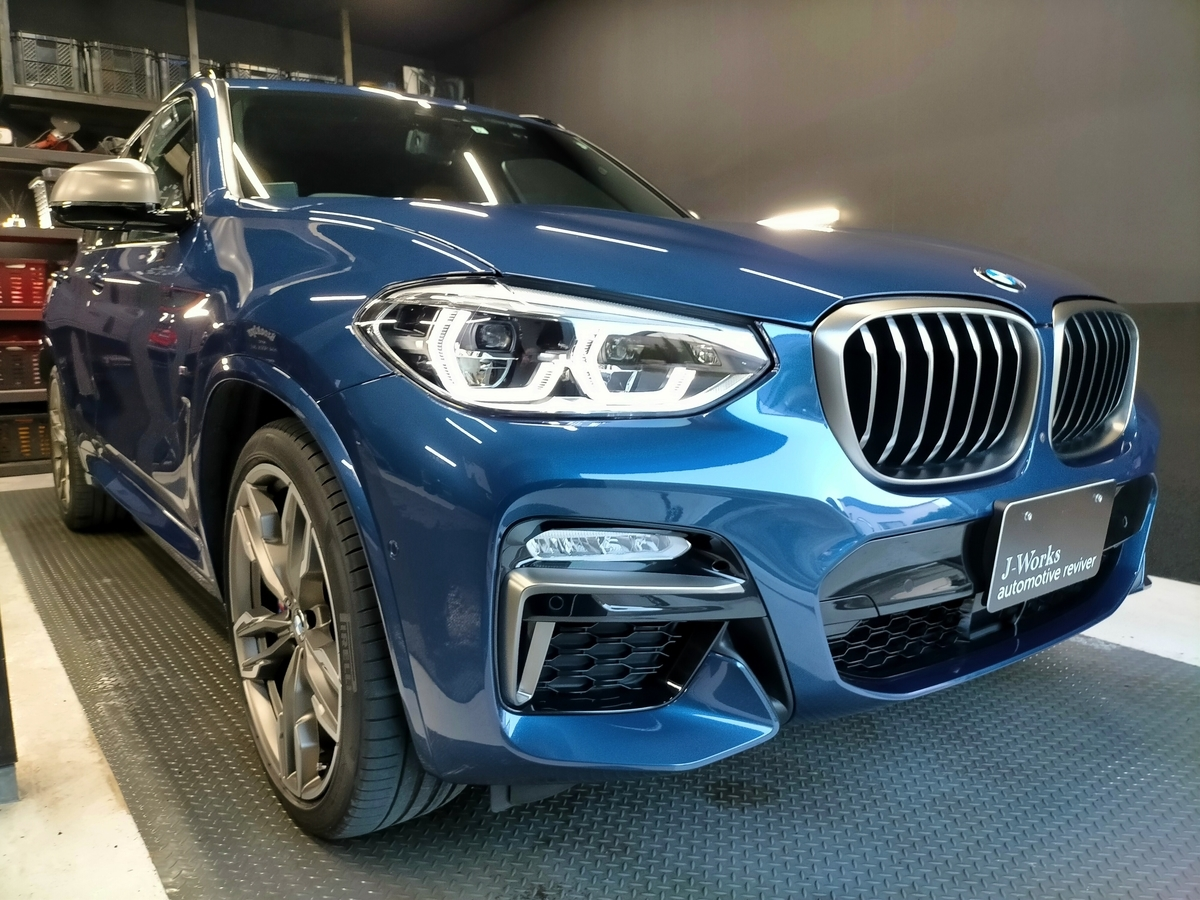 BMW/X3 M40d樹脂硬化型コーティング【Ω /OMEGA】1年メンテナンス+ホイールコーティング+革シート保湿クリーニング札幌清田2