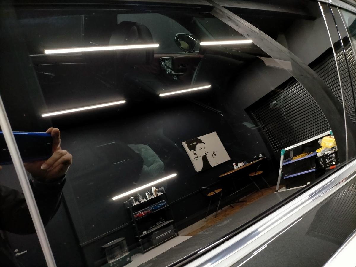 レクサス/LS500 EXECUTIVE 樹脂硬化型コーティング【Ω /OMEGA】1年メンテナンス+ウィンドウガラスウロコ取り撥水加工+革シート保湿クリーニング札幌清田5