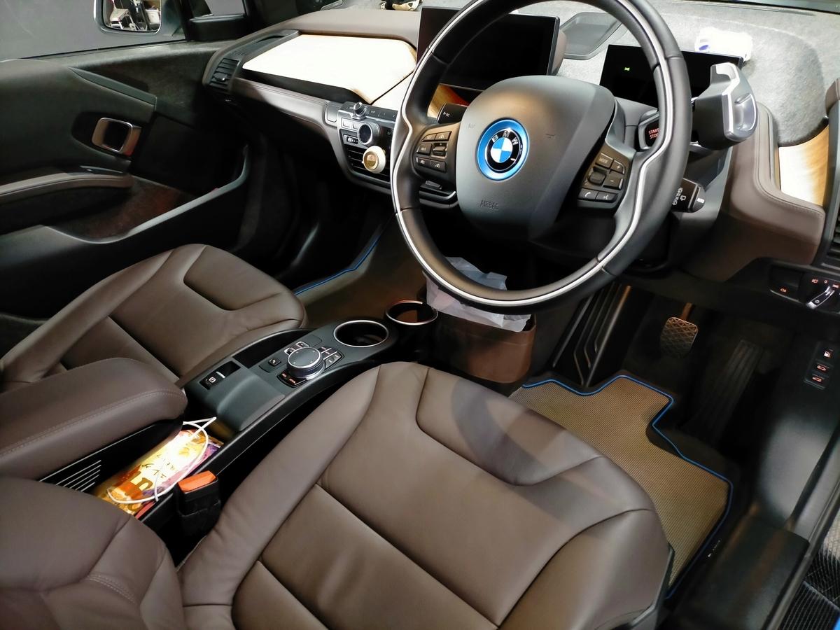 BMW/i3 ボディ磨き+樹脂硬化型コーティング【Ω/OMEGA】+ウィンドウガラスウロコ取り撥水加工+ホイールコーティング+未塗装樹脂パーツコーティング+革レザークリーニング・保湿トリートメント札幌清田8