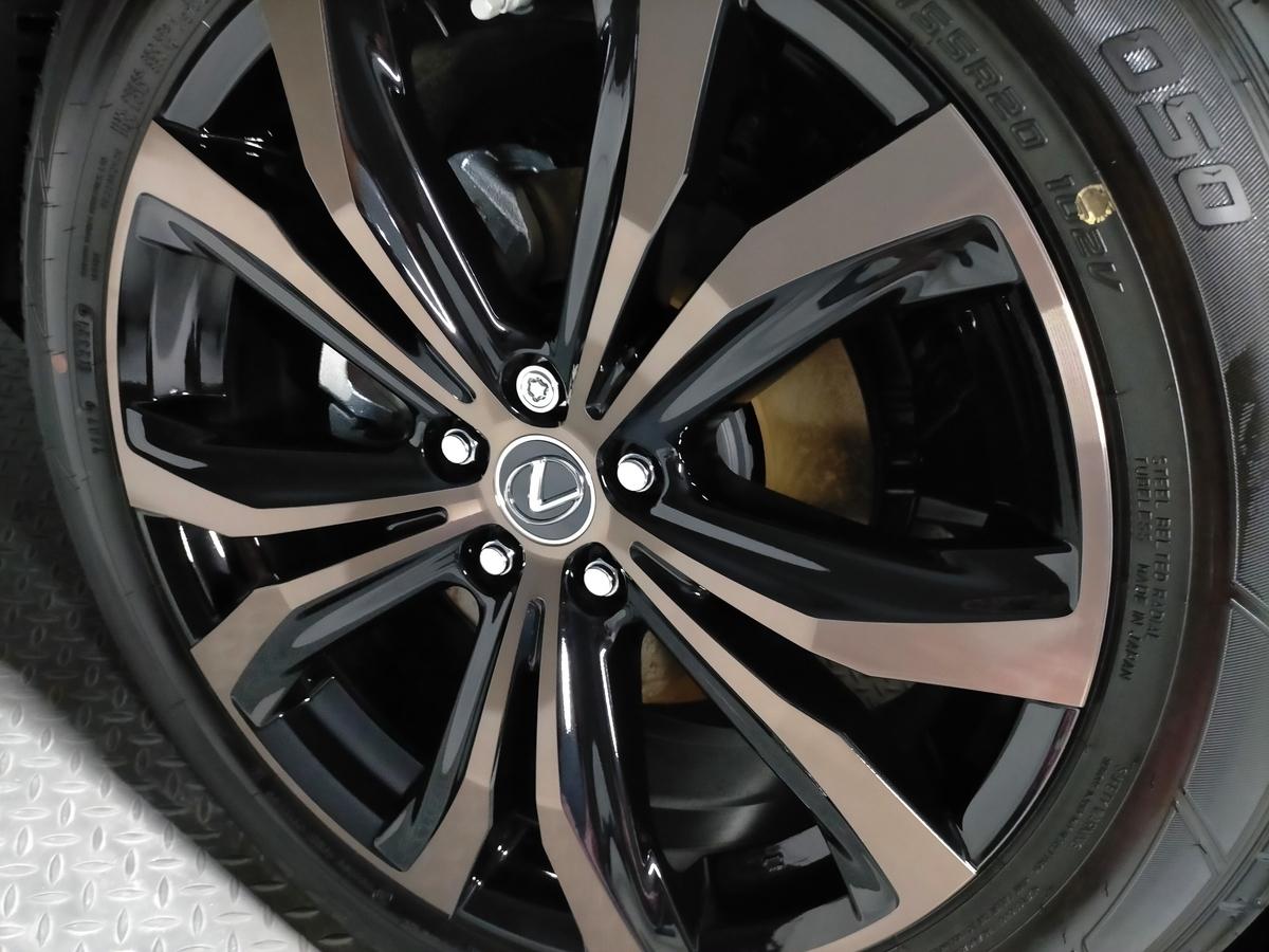 新車レクサス/RX450h 樹脂硬化型コーティング【Ω/OMEGA】+ ムーンルーフウロコ取り札幌北広島江別恵庭6