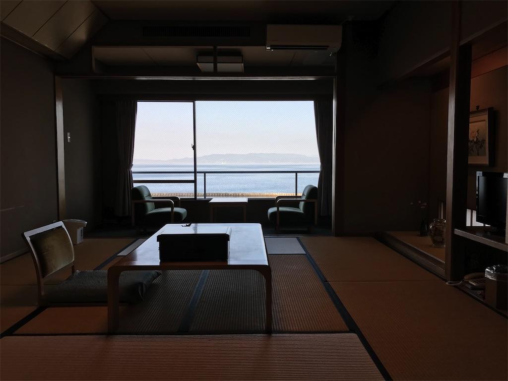 海が見渡せる客室