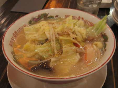 野菜たっぷりタンメン@東老虎
