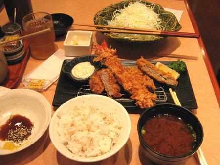 ミックスフライ定食@さぼてん