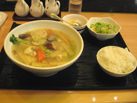五目汁蕎麦セット@京華楼