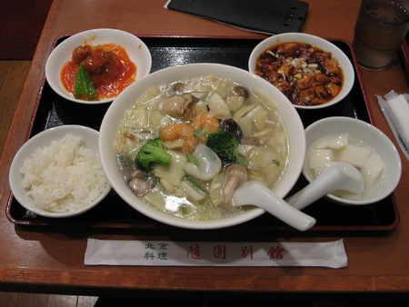 海鮮タンメンセット(麻婆豆腐、酢豚)@随園別館