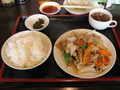 [東京亭]肉と野菜のピリ辛炒め定食@東京亭