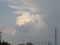 夕立を降らせた雲