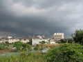 [品川街道]変な雲だな…