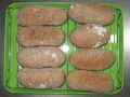 [パン]ライ麦80g全粒粉60g強力粉80g水130gくるみ100g干葡萄120gパートフェンメルテ