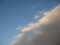 黒い雲と青い空