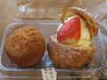 [ケーキ]まんまるチーズケーキ&いちごのプチボーラ