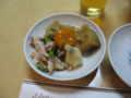 [新年会][サカエヤ茶楼]前菜(蒸鶏の胡麻ソース、クラゲ、おひたし)