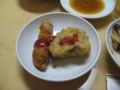 [新年会][サカエヤ茶楼]豚肉の野菜巻きフライ、肉詰め蓮根の天麩羅
