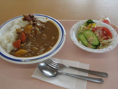 カレー定食(500円)