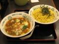 [日高屋][ラーメン]野菜うま煮つけ麺
