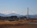 [富士山]ふれあい橋と富士山