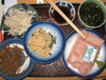 [肴]ごぼうサラダ、金平、卯の花、くきワカメ、ネギトロ